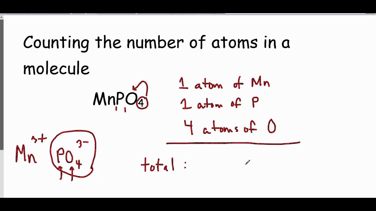 Number Of Atoms In A Formula Worksheet Answer Key