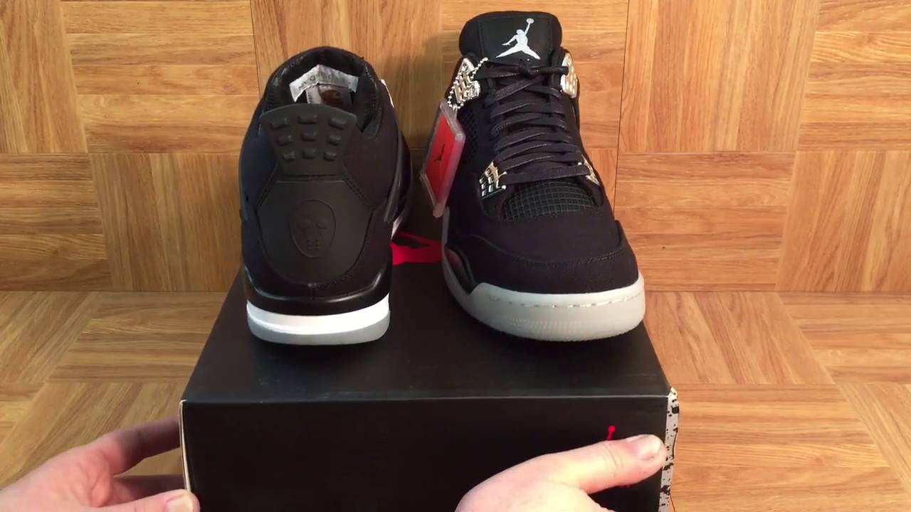 d8336171ef1c41 ShoeZeum NO RESERVE On These Eminem Nike Air Jordan 4 Carhartt Shoes On  eBay!! - YouTube
