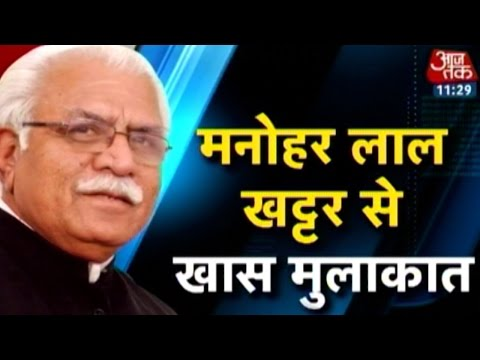 Exclusive interview with Manohar Lal Khattar CM of Haryana