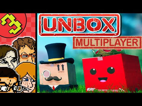 Let's Play Unbox The Game | 4 Player Multiplayer Split Screen Unbox Gameplay | Delivery Race!
