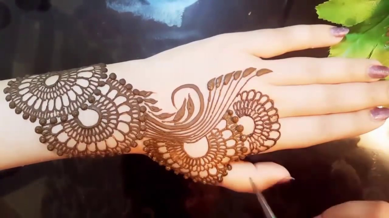 c744b90748a28 EASY Arabic Mehndi Design Tutorial - YouTube