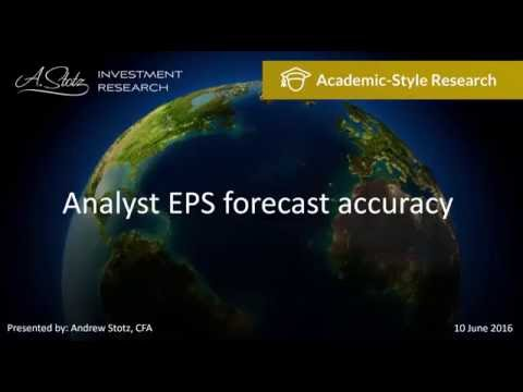Analyst EPS Forecast Accuracy - Become a Better Investor