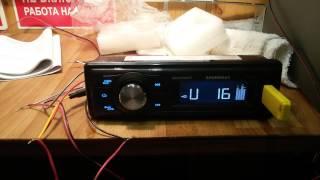 тест магнитолы  SOUNDMAX  3057