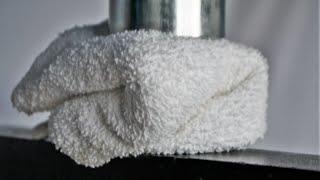 Towel vs Hydraulic Press - Don't drop your towel