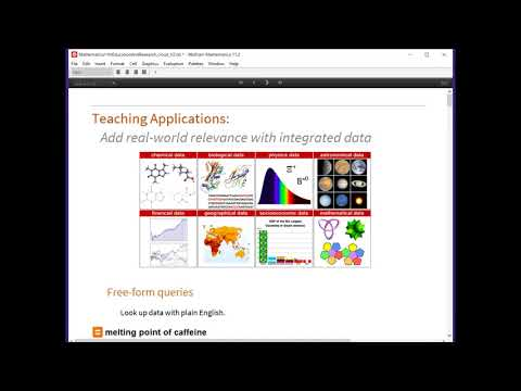 Wolfram Technologies for Teaching and Education