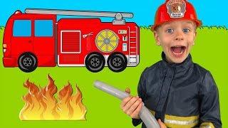Firefighters Song   동요와 아이 노래   어린이 교육   Dima Family Show