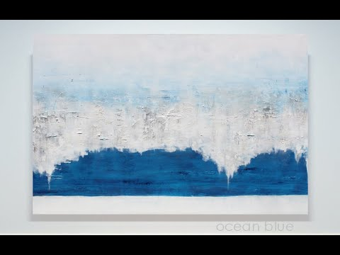 Buy Direct From Artist, Modern Abstract Art, Large Blue Painting on Canvas