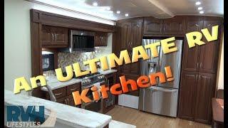 Ulitmate RV Kitchen Private Tour a 48 foot Custom Travel Trailer