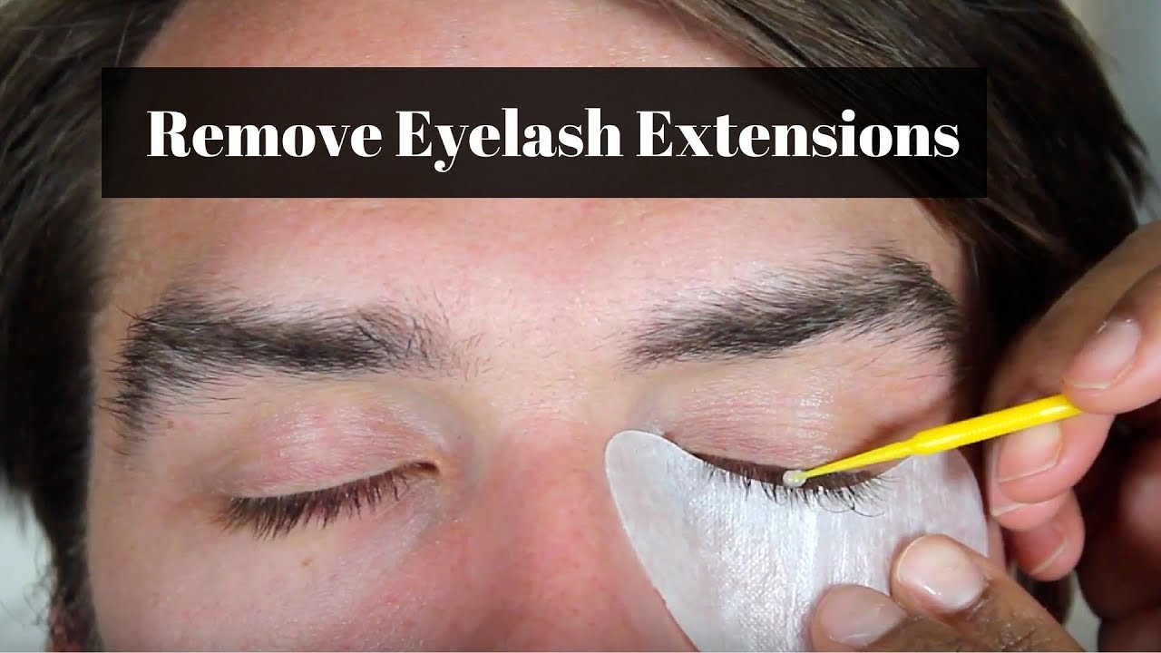 How To Remove Eyelash Extensions At Home Youtube