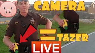 COP USES FORCE OVER CAMERA! 1ST AMENDMENT AUDIT FAIL!