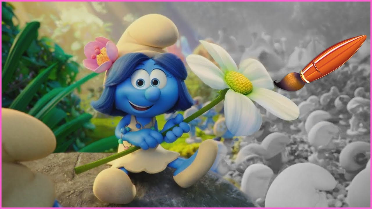 Smurfblossom From Smurfs The Lost Village Kids Coloring