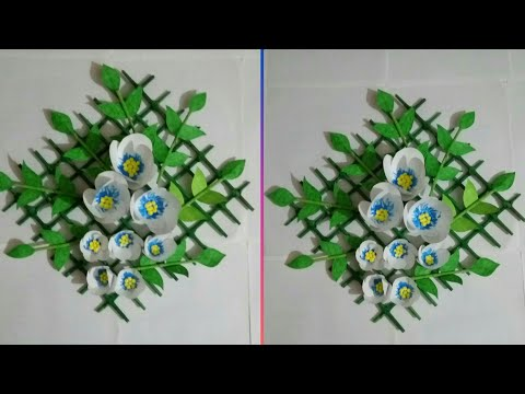 Paper flowers wall hanging | Easy wall decoration ideas | Paper craft ideas