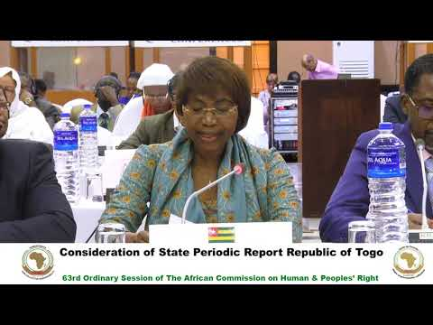 DAY 7 - #ACHPR63 Consideration of State Periodic Report Togo