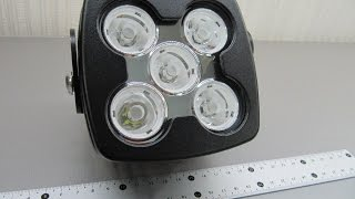 Дополнительные светодиодные фары LED М10 - 50 W Spot (дальний свет )(Дополнительные светодиодные фары LED М10 - 50 W Spot (дальний свет ) на светодиодах XM-L2 , на видео показан пучок..., 2015-05-13T21:46:35.000Z)
