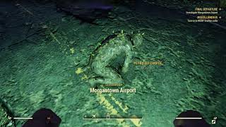 Fallout 76 chased by ghouls