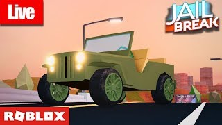 🔴 Roblox Live 🔴 JAILBREAK UPDATE SOON!🔥 l MILITARY JEEP, REMASTERED PRISON, AND NEW ESCAPES🔥😱!