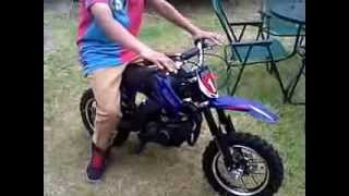 Going through the 50cc mini Cobra Dirt bike