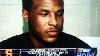 Orange Fizz: Syracuse's Dion Waiters Classic Reaction To Stupid Reporter Question