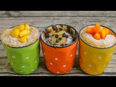 3 Easy Mug Cake Recipe | Eggless Mug Cake Recipe Without ...