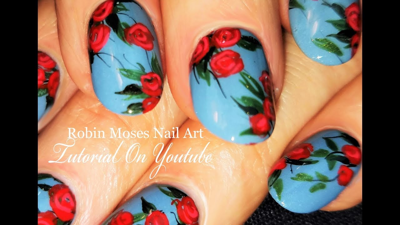 Red rose nails diy roses nail art design tutorial youtube red rose nails diy roses nail art design tutorial prinsesfo Choice Image