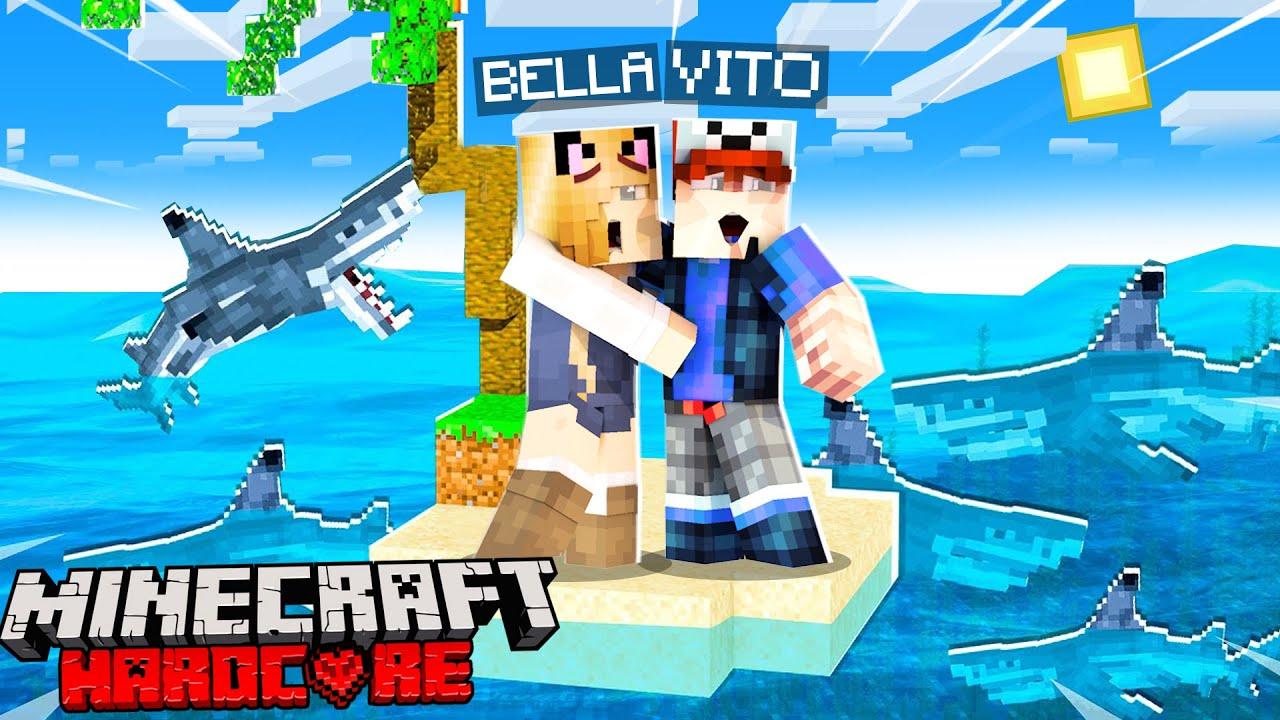 100 DNI Z BELLĄ NA HARDCOROWEJ WYSPIE w Minecraft! (Dzień 1) | Vito i Bella