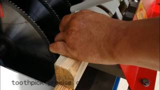 woood toothpick machine