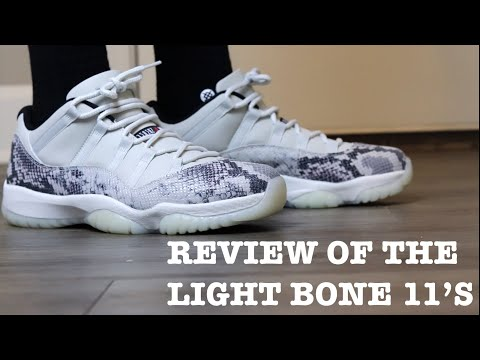 """REVIEW AND ON FEET OF THE AIR JORDAN 11 LOW """"LIGHT BONE"""""""
