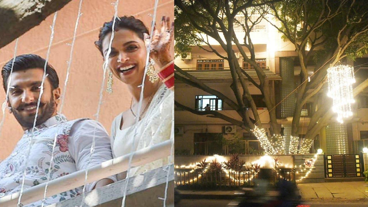 Deepika Padukone Bangalore House Decorated For Wedding ...