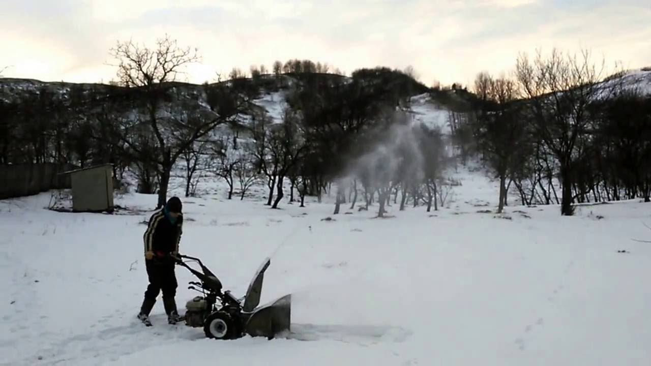 """Homemade snow blower 28"""" wide - YouTube"""