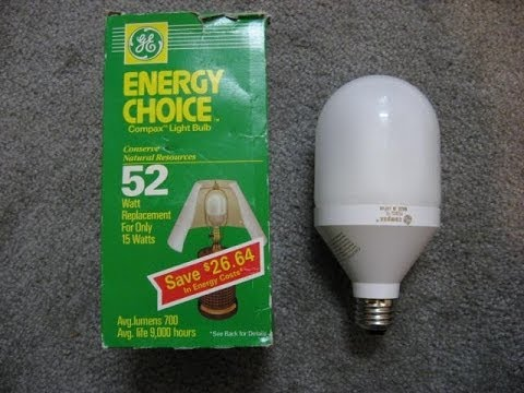 ge compax compact fluorescent light bulb preheat - Compact Fluorescent Light Bulbs