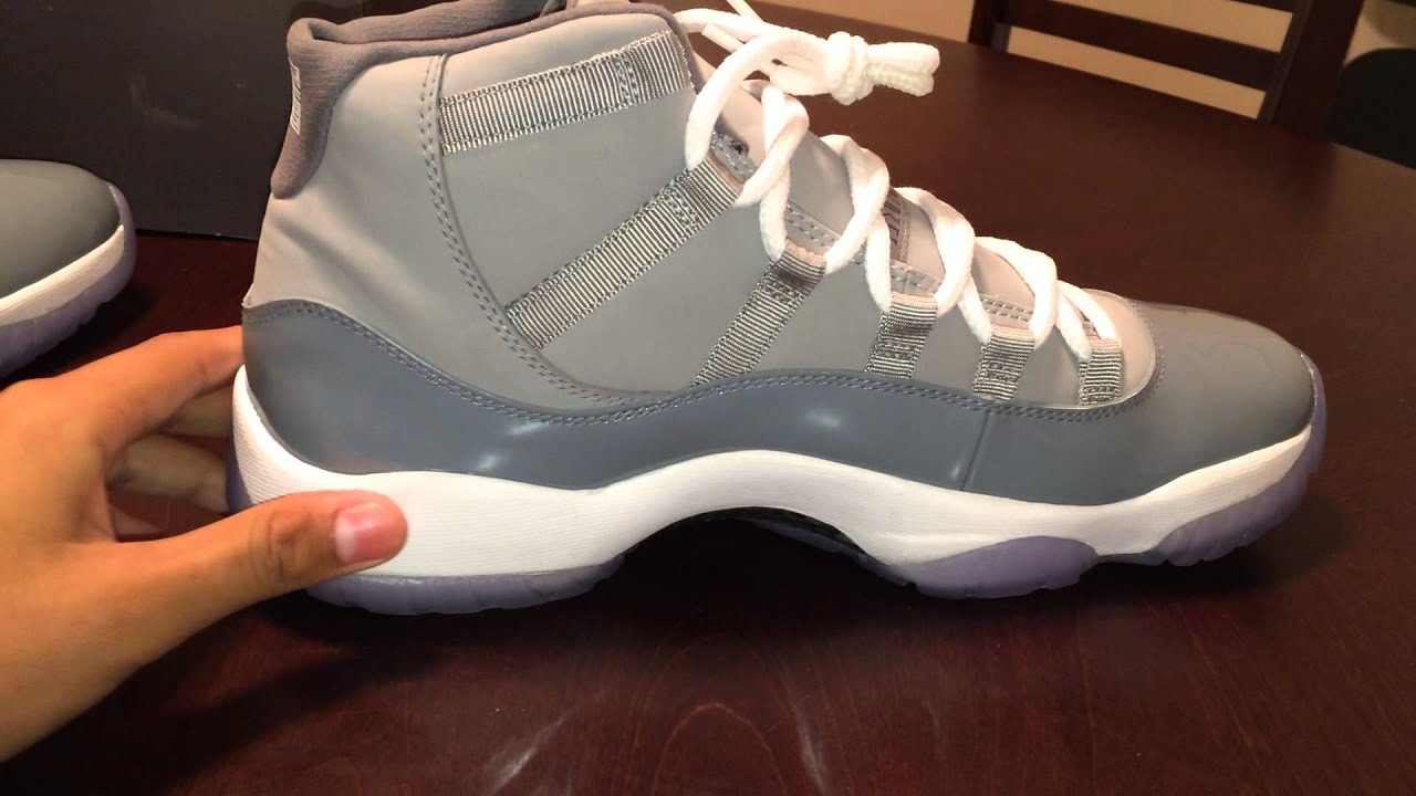"Air Jordan 11 ""Cool Grey"" Review - YouTube Jordan 11 Low Cool Grey 2014"