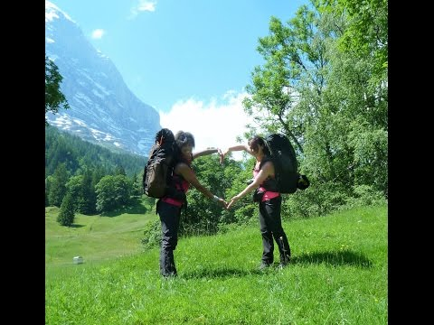 Adventure hiking and wild camping in the Swiss Alps