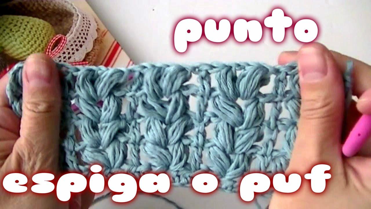 Como hacer el punto Espiga o puff a crochet paso a paso - YouTube