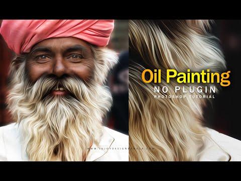 Oil Painting Portraits   Photoshop CC Tutorial   Ju Joy Design Bangla