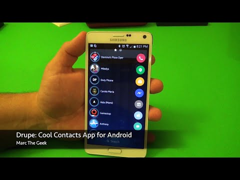 Drupe: Cool Contacts App For Android