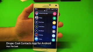 Drupe: Cool Contacts App for Android screenshot 1