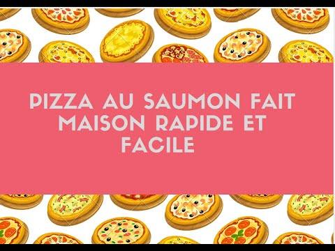 Pizza Au Saumon Base Creme Fraiche Fait Maison Youtube