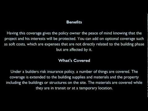 Definition of Builders Risk Insurance