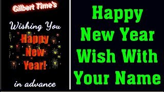 Happy New Year Wishes With Your Name HD