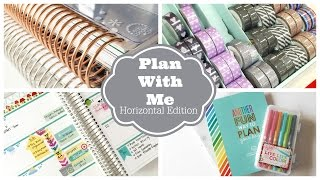 Plan With Me! Weekly Planner Session: Horizontal Erin Condren Life Planner