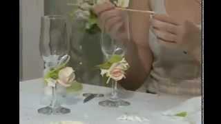 Фужеры для молодоженов - свадебное агентство в Донецке