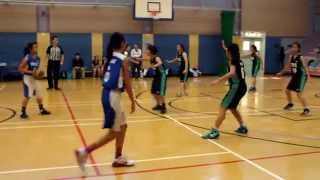 2014-2015 中學校際籃球比賽 第三組 (九龍二區) 女子組 九龍真光 vs 滙知