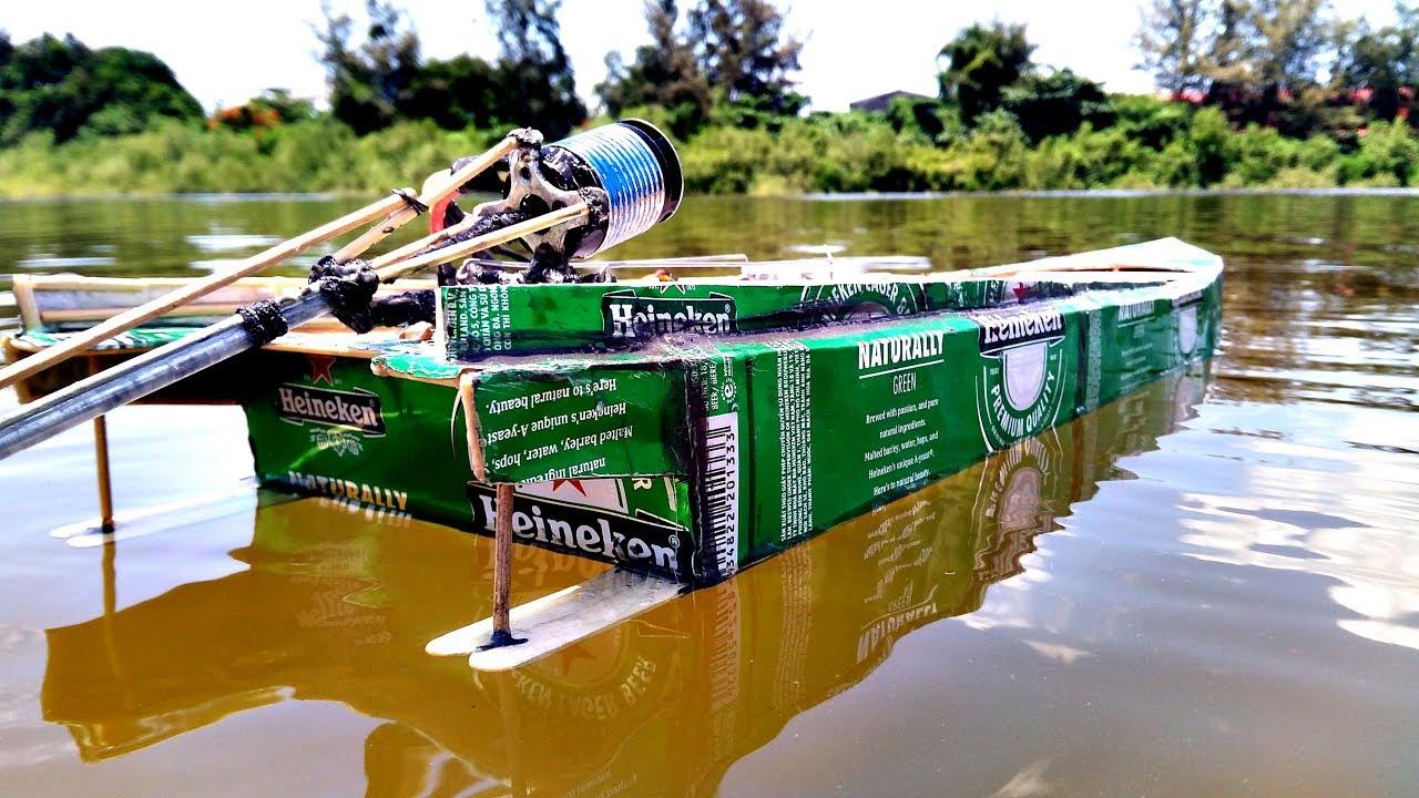 Chế tàu vỏ lon kiểu Thái đơn giản tuyệt đẹp   Thailand long'tail boat rc