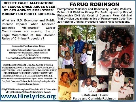 Economy Impacts of Business Visionary Faruq Robinson Legal Malpractice Criminal Defense False Claims