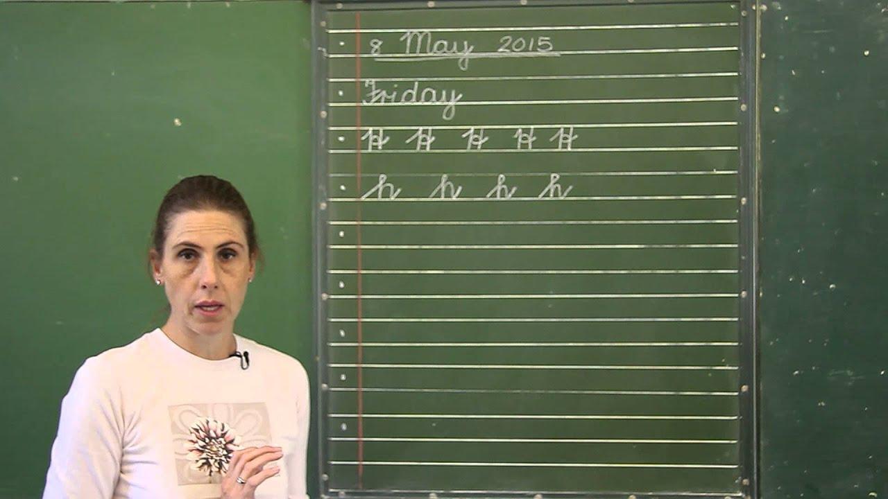 Ms Allsworth  Grade 3 Cursive Writing Lesson  Youtube
