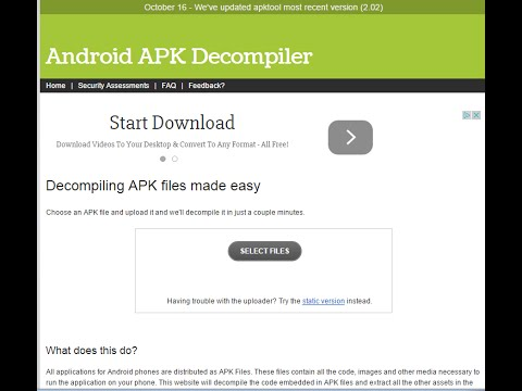 how to decompile an android application/apk (reverse engineering)