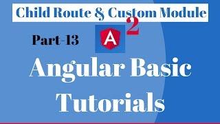 angular 2 child route custom module