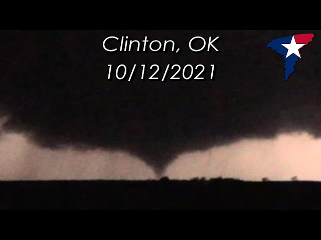 10-12-2021   Clinton, Oklahoma Tornado After Dark!