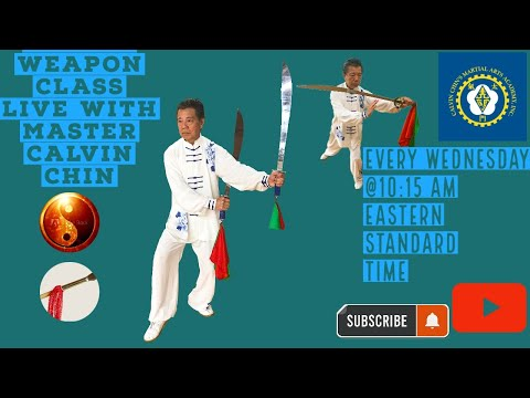 Wu Style tai chi weapons forms class Live! Tai Chi Broadsword, Tai Chi straight sword from YouTube · Duration:  27 minutes 47 seconds