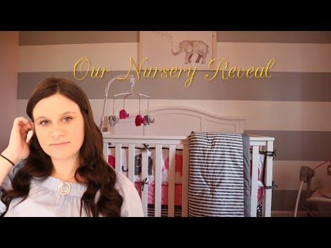 Our Baby Girl Elephant Nursery Reveal \u0026 Tour | Pink and Grey nursery